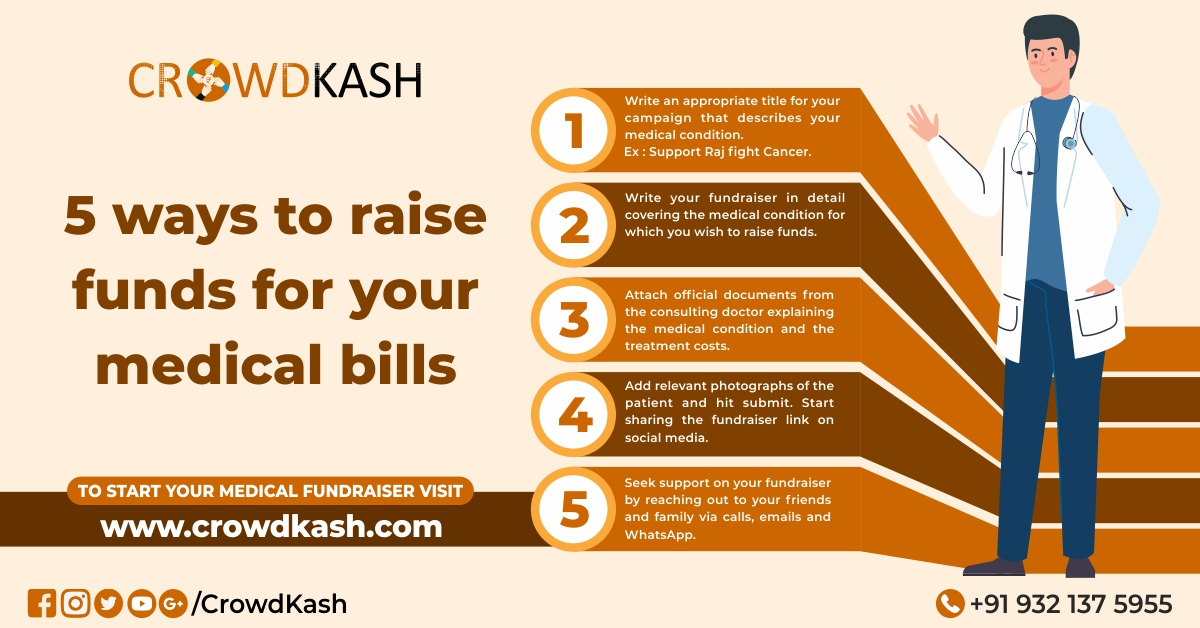 5 steps to raise funds for your medical bills.